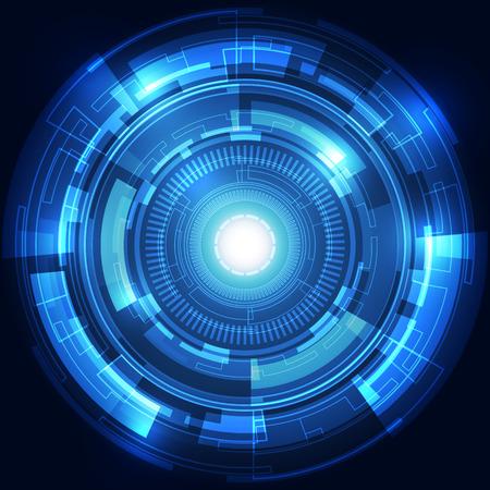 Tecnologia astratto concetto di fondo, illustrazione vettoriale