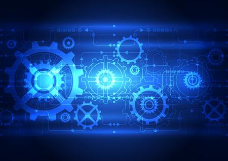 circuitos electronicos: Tecnolog�a Concepto abstracto digital de fondo, ilustraci�n vectorial