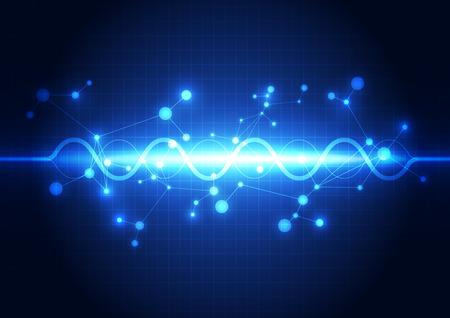 puls: streszczenie technologii przyszłości koncepcji tła, ilustracji wektorowych