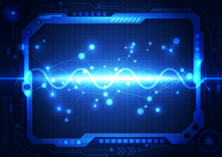 sonic: abstract future technology concept background, vector illustration