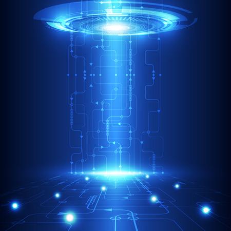 tecnologia: vettore tecnologia del futuro astratto, sfondo telecom elettrico