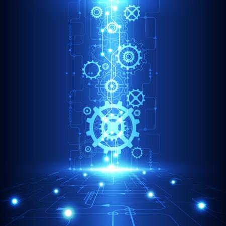 la tecnología del futuro ingeniería abstracto vector, fondo telecomunicaciones eléctrica