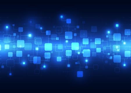 telecoms: Tecnologia astratta blu telecomunicazioni sfondo, illustrazione vettoriale