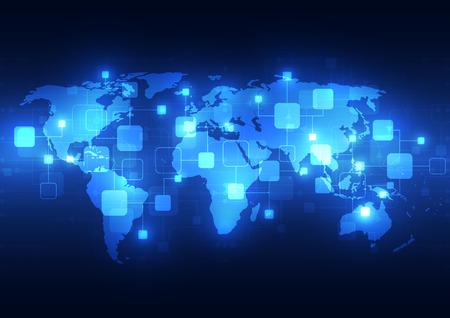 telecoms: Sfondo tecnologia Global Telecoms sfondo, illustrazione vettoriale