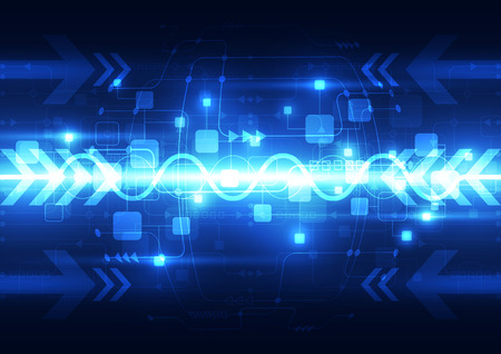 telecoms: Abstract blue technology telecoms background, vector illustration