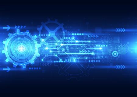 engranajes: la tecnolog�a del futuro ingenier�a abstracto vector, fondo telecomunicaciones el�ctrica Vectores