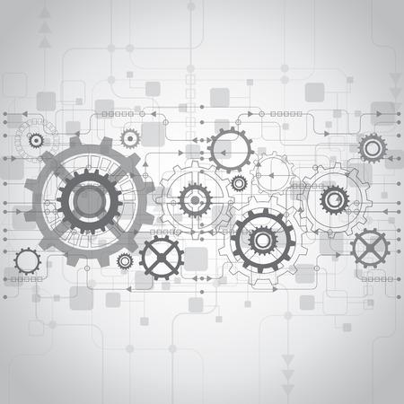 将来の技術の概念の背景を抽象化、ベクトル