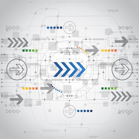 将来の技術コンセプトの背景を抽象化、ベクトル