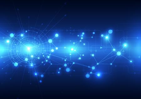 telecoms: Tecnologia astratto futuro telecomunicazioni sfondo, illustrazione vettoriale