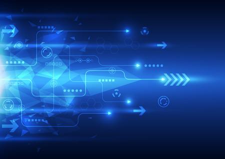 digitální: vektor digitální rychlost technologie, abstraktní pozadí