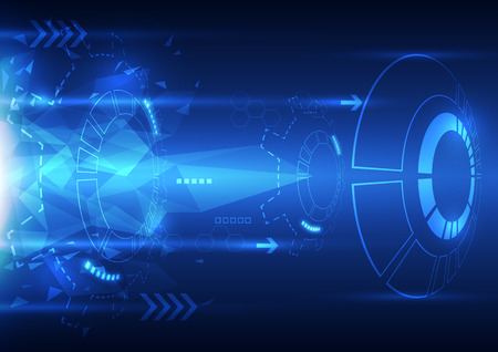 vector digital speed technology, abstract background Vector