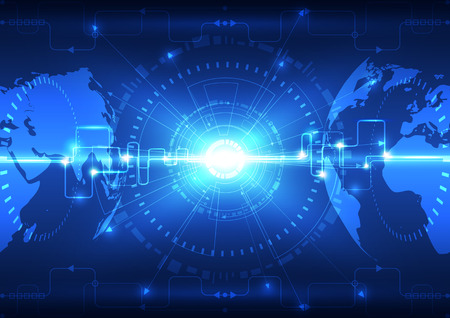 グローバルの将来技術の背景を抽象化、ベクトル イラスト