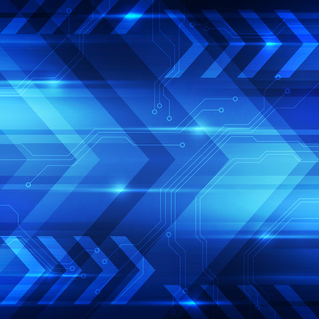 of movement: Abstract digital technology concept background, vector illustration
