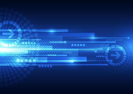 vettore tecnologia velocità digitale, astratto Vettoriali