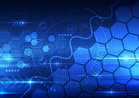 工学将来技術、テレコム背景ベクトル抽象