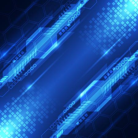 raumschiff: Vektor abstrakte digitale Zukunftstechnologie Konzept, Hintergrund Illustration