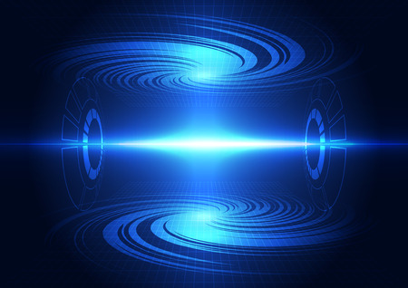 speed of sound: abstract future technology power system background, vector illustration