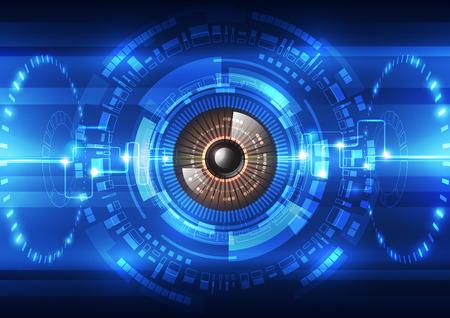seguridad social: futuro abstracto fondo del sistema de seguridad de tecnolog�a, ilustraci�n vectorial Vectores