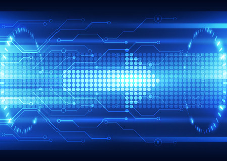 future concept: abstract future speed technology system background, vector illustration
