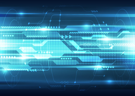 abstract future speed technology system background, vector illustration