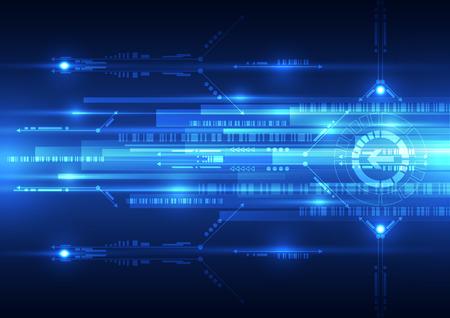 raumschiff: abstrakte Zukunft Geschwindigkeitstechnologie System Hintergrund, Vektor-Illustration