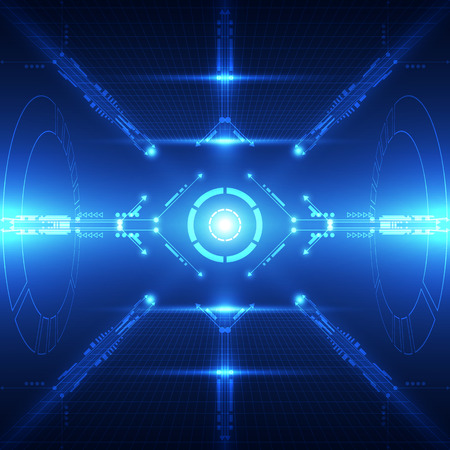 speed of sound: Abstract future technology system background, vector illustration Illustration