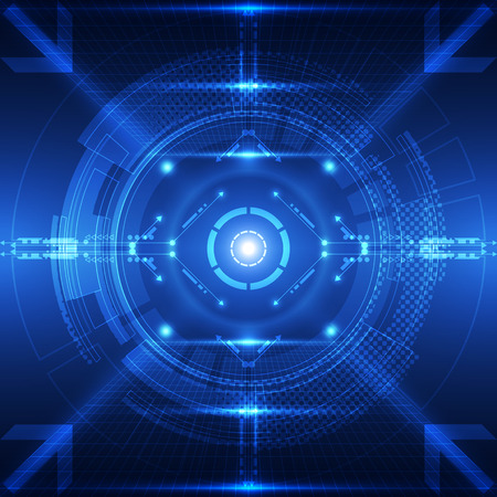 future concept: Abstract future technology concept background, vector illustration