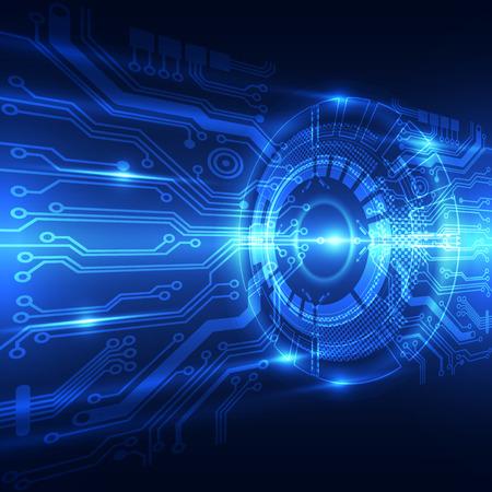 Abstracte toekomstige technologie concept achtergrond, vector illustratie Stockfoto - 37619980