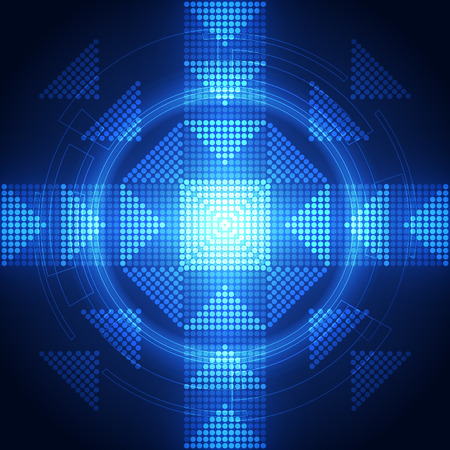 hi speed: abstract future download technology system background, vector illustration Illustration