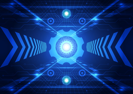 future concept: Abstract future technology system background, vector illustration Illustration