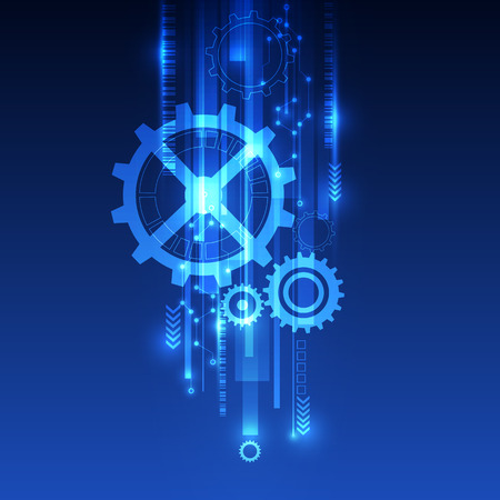 technological evolution: vector digital speed technology, abstract background