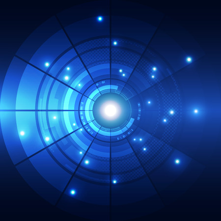 blue energy: abstract future technology concept background, vector illustration