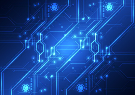 Abstract Futuristic technology circuit board background, vector illustration Ilustrace