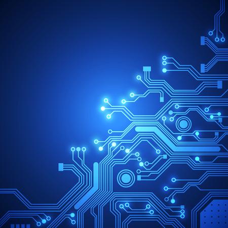 circuitos electricos: placa de circuito de fondo vector Vectores