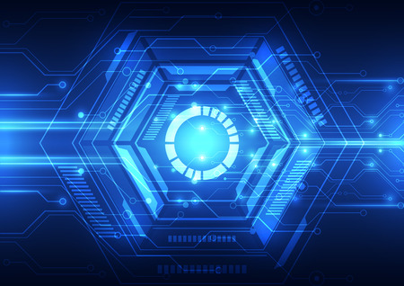 digital: vector digital technology concept, abstract background