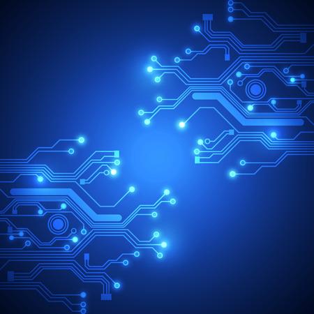 circuitos electronicos: placa de circuito de fondo vector Vectores