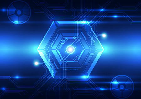 technological evolution: vector digital technology concept, abstract background
