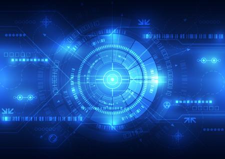 telecoms: tecnologia astratto futuro concetto di fondo, illustrazione vettoriale