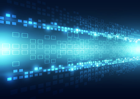 future: Abstract background future technology digital, vector illustration