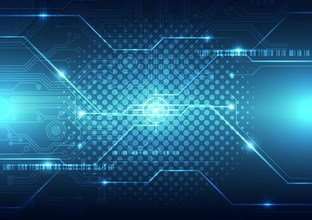 tecnologia: tecnologia astratto futuro concetto di fondo, illustrazione vettoriale