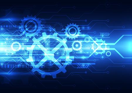 vector abstracte techniek toekomstige technologie, elektrische telecom achtergrond