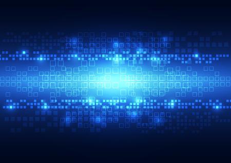 Resumen de vectores de fondo la tecnología de píxeles, ilustración