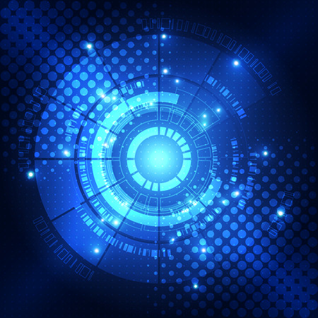blue eye: digital technology concept, abstract background Illustration