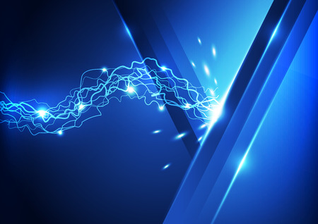 Abstract lightning technology background, vector illustration