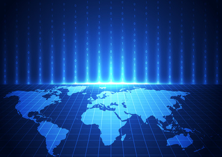 alrededor del mundo: digital de la tecnología de comunicación mundial vector, fondo abstracto Vectores