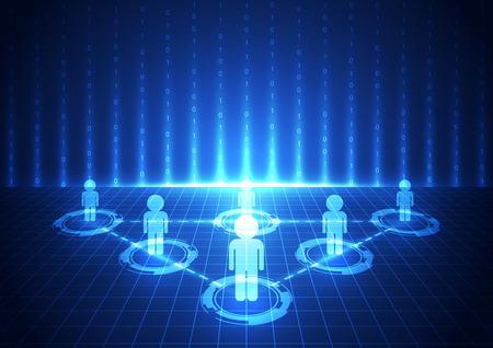 tecnologia comunicacion: vector de la tecnolog�a de la comunicaci�n digital de negocios, fondo abstracto Vectores