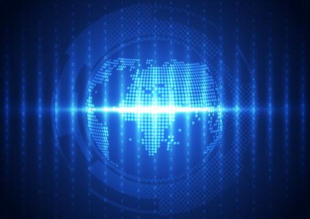 globális kommunikációs: vector digital global communication technology abstract background