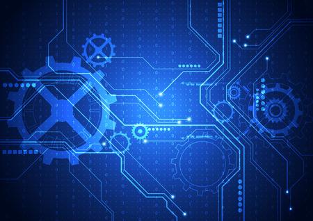 Vektor digitalen Technologie-Konzept, abstrakten Hintergrund