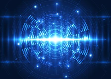 digital wave: vector de la tecnolog�a de ondas digitales futuro, fondo abstracto
