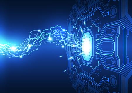 energia electrica: abstracto tecnolog�a de circuitos electr�nicos de fondo, ilustraci�n vectorial